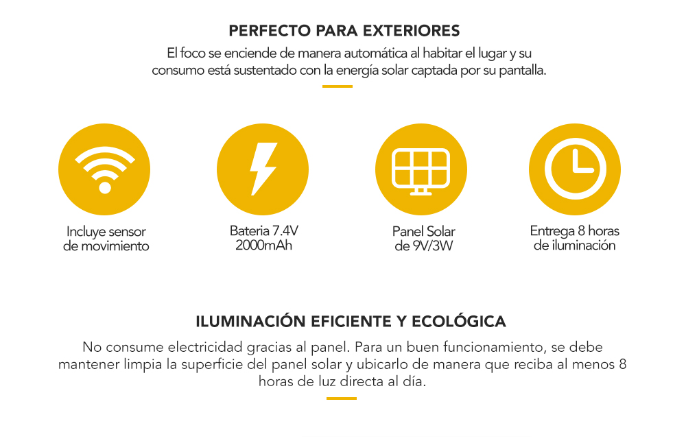 Foco Solar Led de alta luminosidad