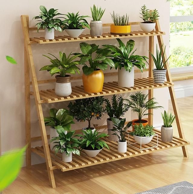 Pérgola para Terrazas de Bambu. Tres niveles.