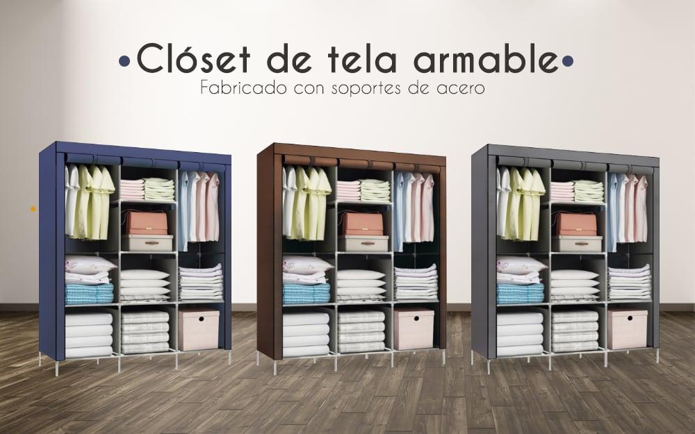 Closet de tela armable en color a elección