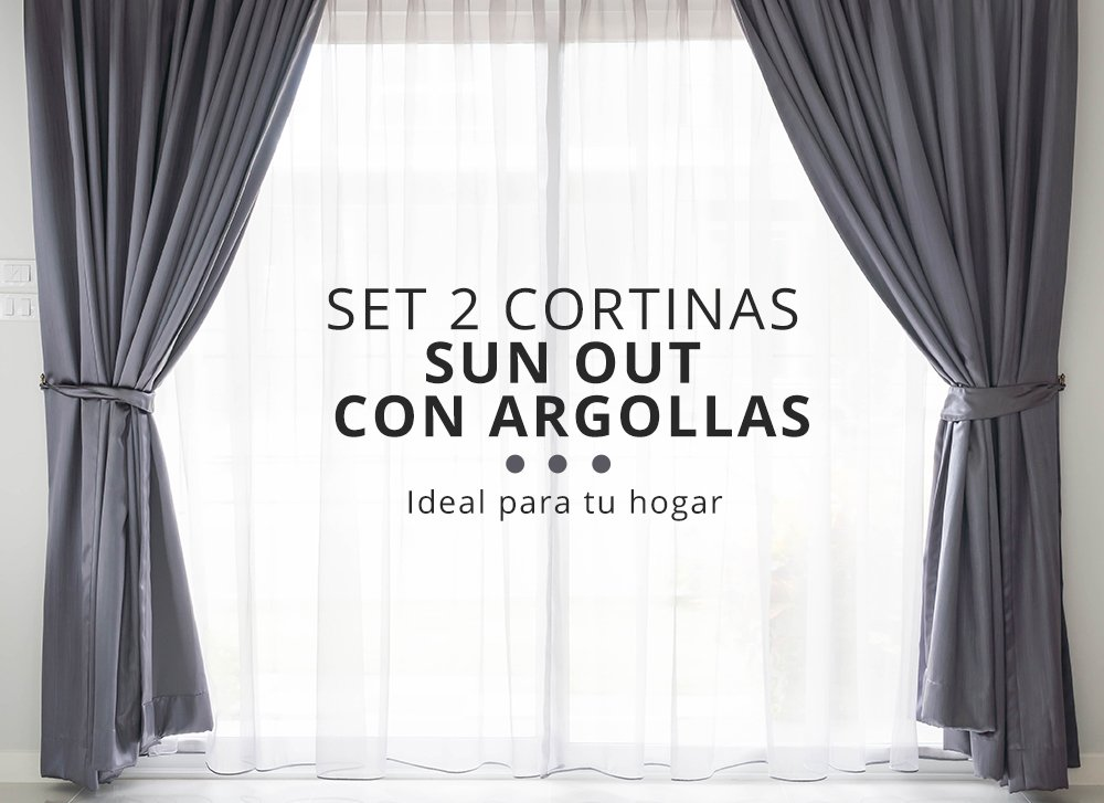 Cortinas Sun out. Pack 2 cortinas.