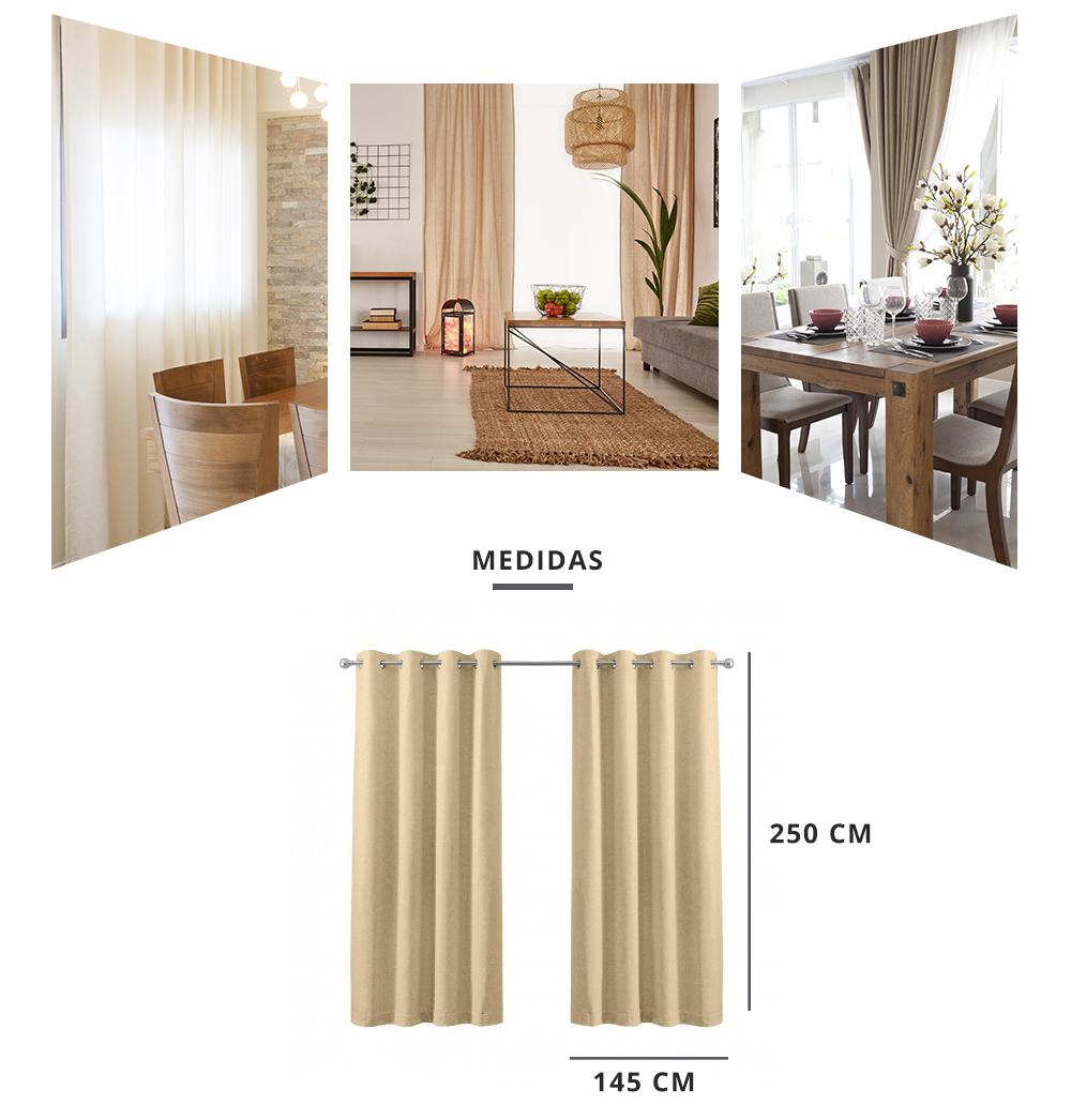 Cortinas Sun out. Pack 2 cortinas.