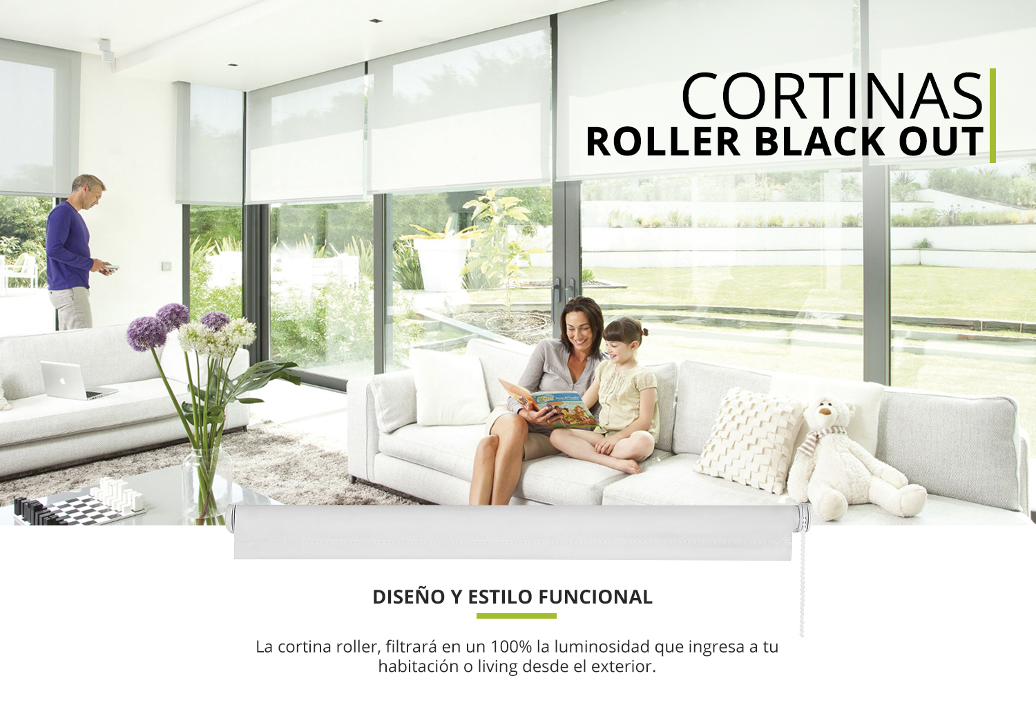 Cortina roller Black out
