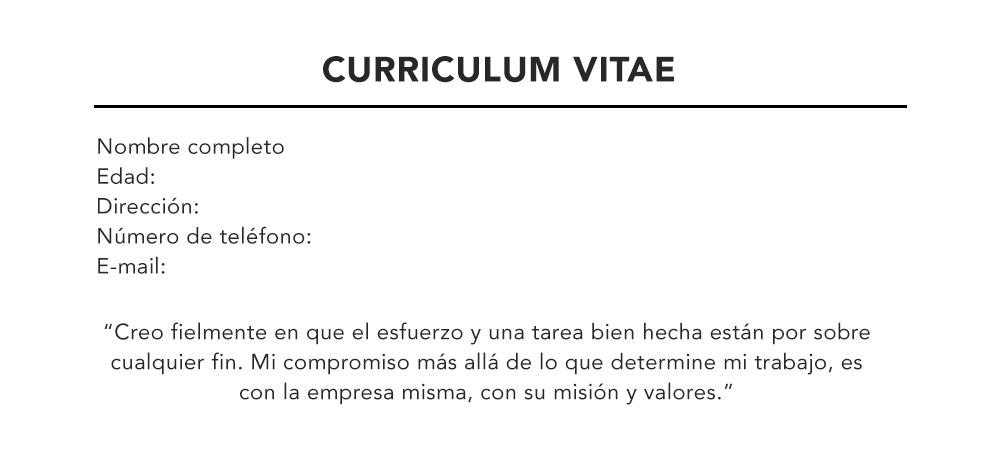 Modelo De Curriculum Como Hacer Un Curriculum Vitae