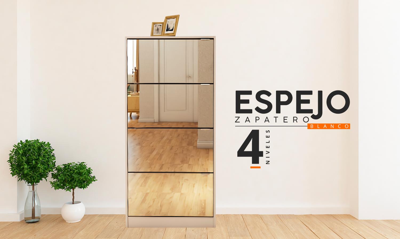 Espejo Zapatero 4 niveles
