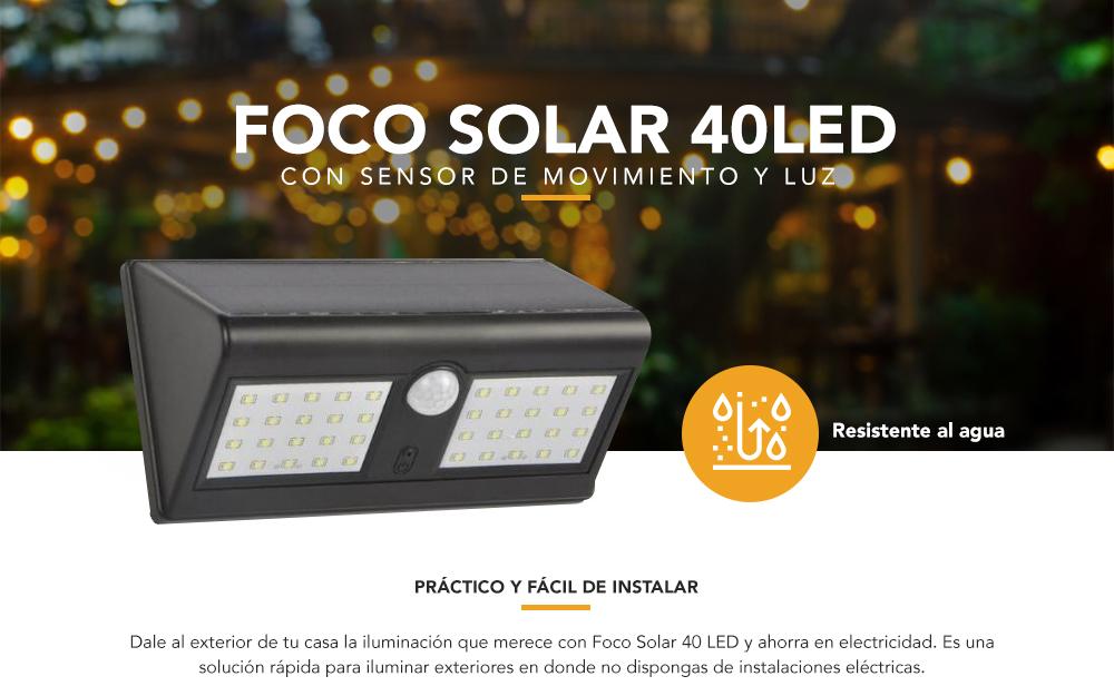 Foco solar 40 LED