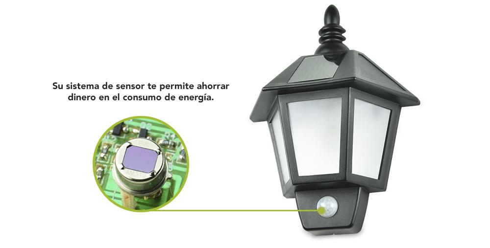 Foco Solar 6LED con sensor de movimiento