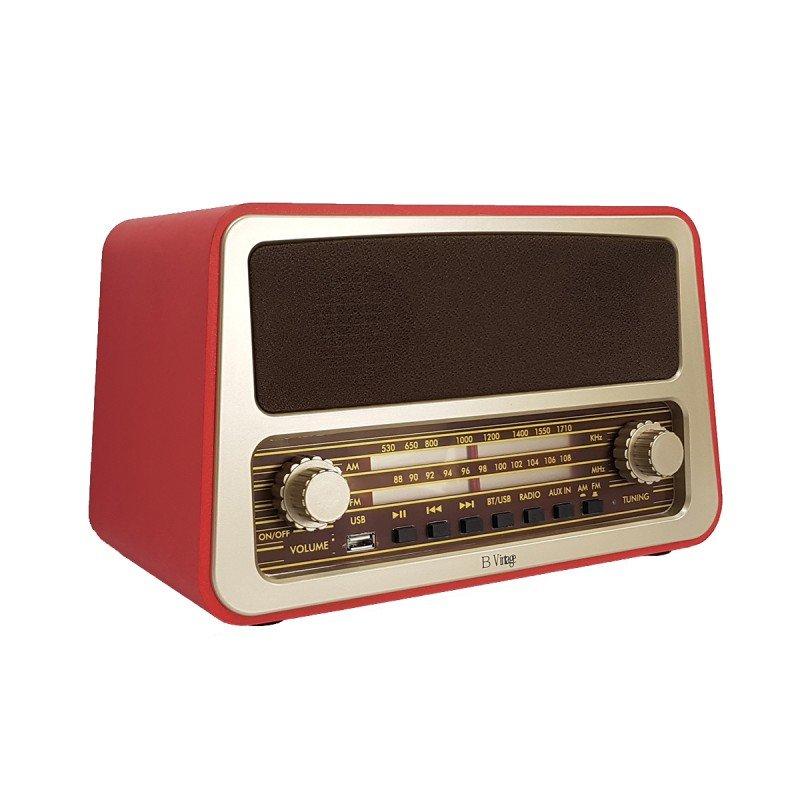 Radio Vintage con función Bluetooth y entrada USB