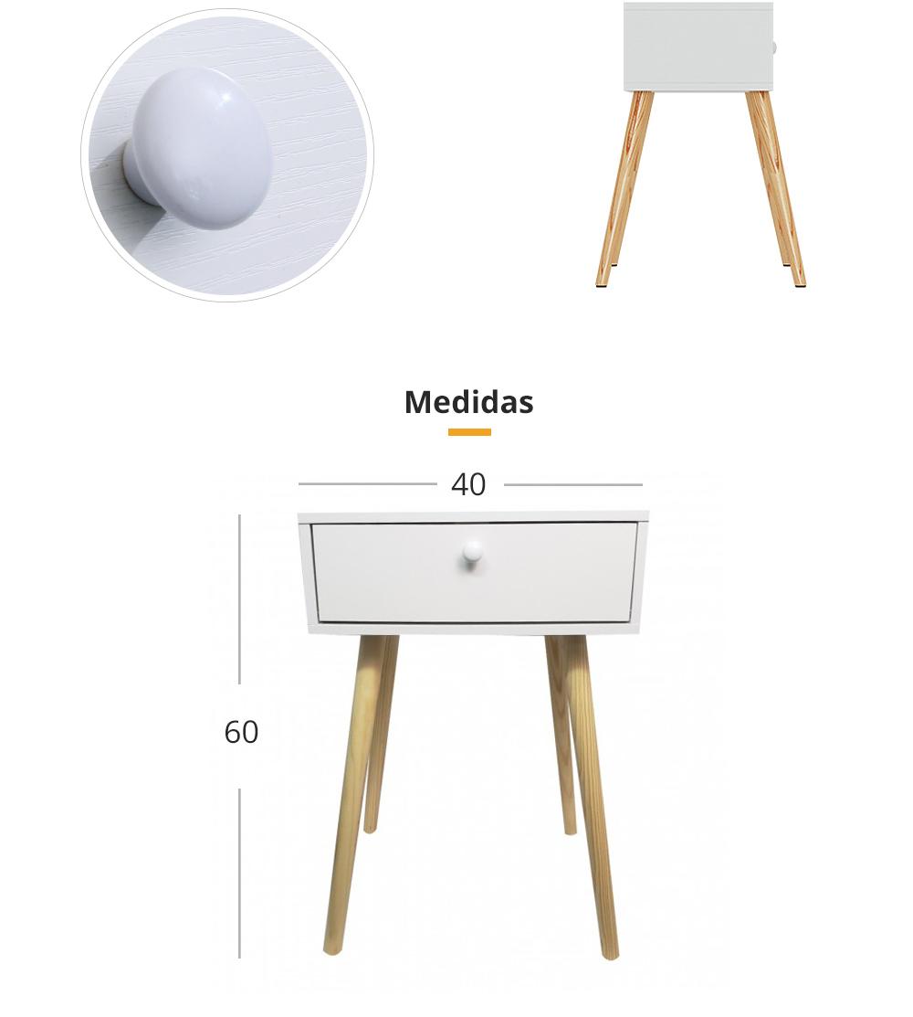 Velador eames velador de madera blanco incluye caj n - Velador plegable ...